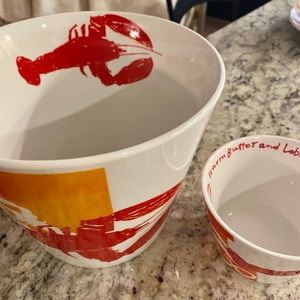 Crate and barrel lobster shell bucket set